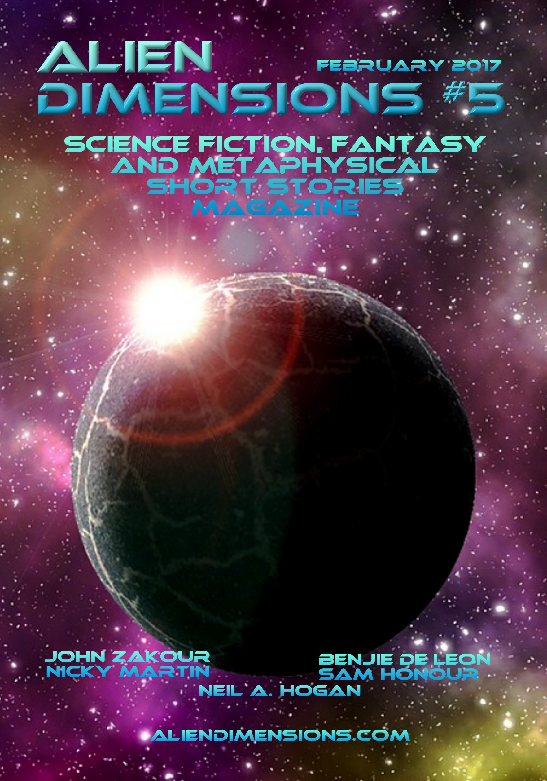 Alien Dimensions Science Fiction Fantasy Metaphysical Short Stories Magazine Monthly
